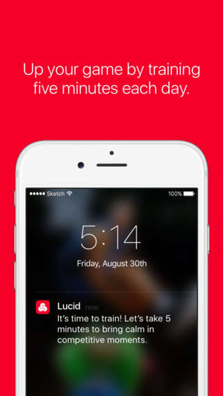 Athletic Mindfulness Apps - The Lucid App Offers Mental Training For High-Level Athletes
