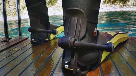 Snap-On Scuba Clips - The Finclip System Makes the Process of Wearing Scuba Fins Easy and Safe