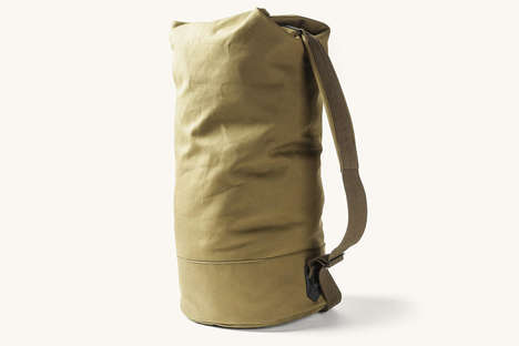 Utilitarian Military Duffles - The Cargo Carryall Shoulder Bag Can Transport Heavy Weight Luggage