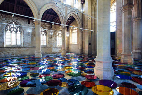 Reflective Rainbow Exhibits - This Artist Created Reflective Art to Brighten Up a Church