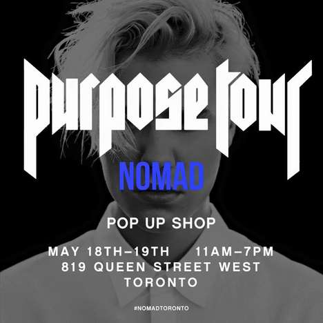 Album Tour Pop-Ups - The New Purpose Tour Pop-Up Sells Merchandise from Justin Bieber's Latest Tour