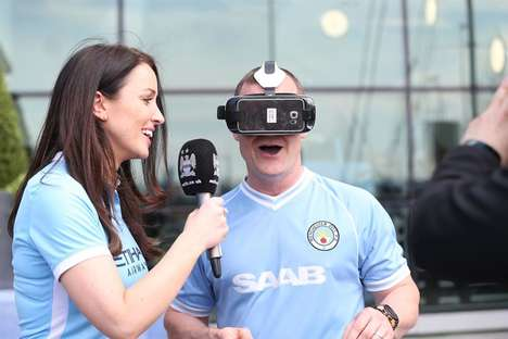 VR Soccer Broadcasts - The Manchester City VR Broadcast Gives Fans a New Way to Enjoy Soccer Games