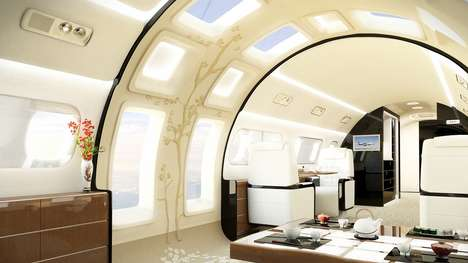 Sunlit Private Jets - The New Embraer Kyoto Airship Has Door-Sized Windows