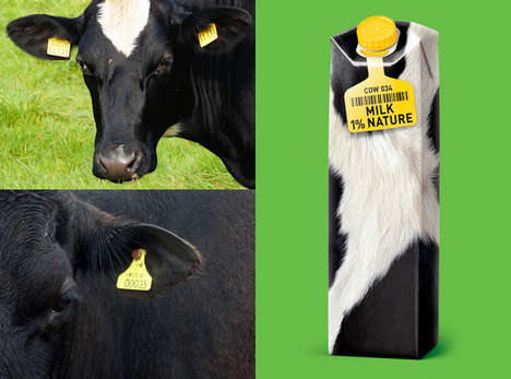 Cow Hide Packaging - The Milk Nature Concept by Roman Belichenko Embraces a Fresh Look