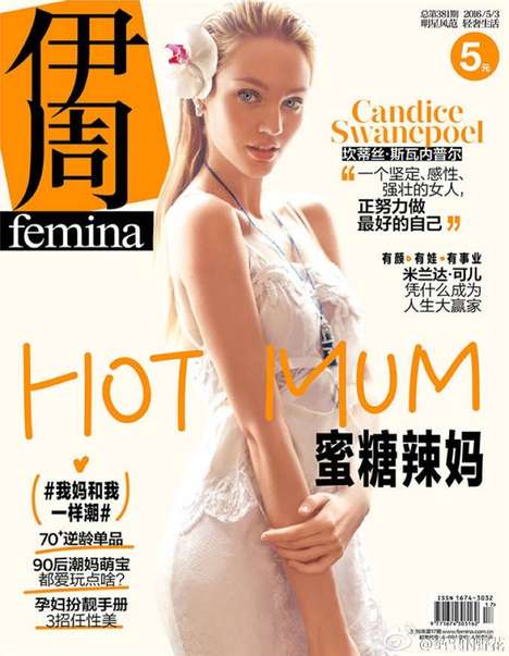Subtle Asian Editorials - Top Model Candice Swanepoel Covers the Latest Femina China Issue