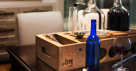 Bespoke Winemaking Kits - This Small Batch Handcrafted Wine Making Kit is a Gorgeous Workstation