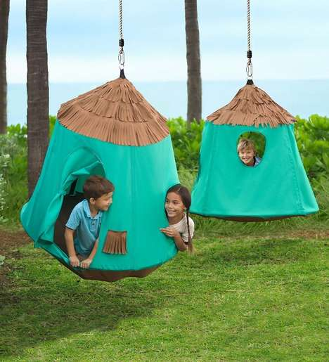 Hanging Kid Cabanas - The Go! HangOut HugglePod Beach Cabana is a Kid-Friendly Outdoor Hangout