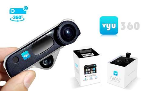 360-Degree Smartphone Cameras - The 'Vyu360' Add-On Device Captures 360-Degree Images on Smartphones
