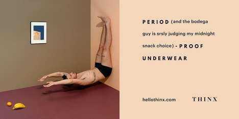 Gender-Bending Underwear Ads - The New THINX Ads Feature a Trans Man Wearing Period Underwear