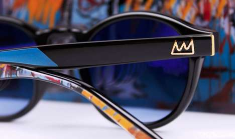 Artist-Inspired Sunglasses - These Sunglasses Incorporate the Iconic Work of J.M. Basquiat