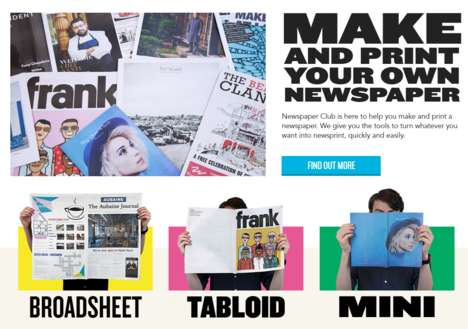 Custom Newspaper Prints - Newspaper Club Helps Anyone Share Their Own Publication