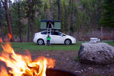 Car Pop-Up Campers - The BlackFin Camper Box is a Hard-Shell Pop-Up Tent