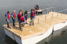 Floating Pedestrian Bridges