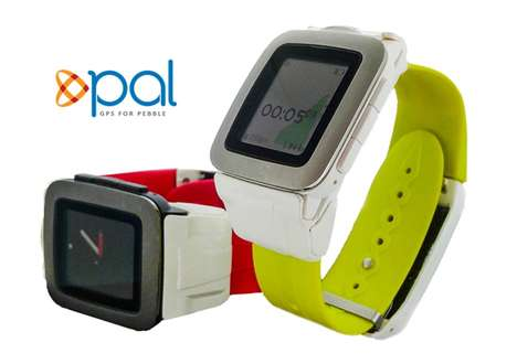 Charging GPS Smartwatch Straps - The 'Pal' Pebble Time Smartwatch Strap Upgrades the Smart Device