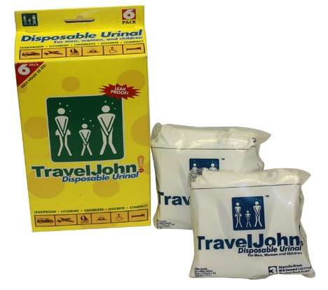 Portable Urinal Bags - The 'TravelJohn' Disposable Urine Bags Turn Liquid into Gel