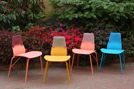 Stitched Outdoor Chairs - These Charming Chairs Give the Appearance of Being Stitched Together