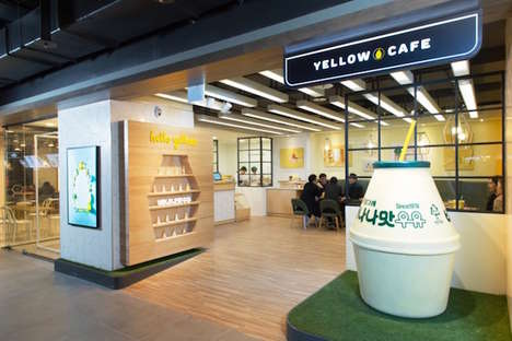 Banana Milk Cafes - This Korean Dairy Company is Bringing Its Yellow Cafe Flagship to Seoul