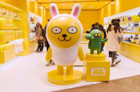 Character-Themed Tech Shops - This Kakao Talk Popup in Seoul Featured Emoji-Inspired Art and Prizes