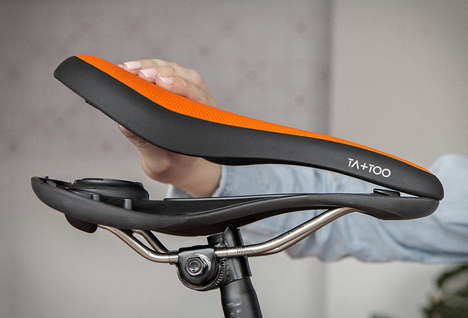 Detachable Bike Seats - The 'Ta+Too' Bike Saddle Seat Prevents Theft by Being Detached