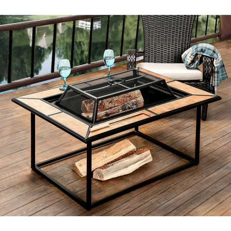 Dual-Purpose Fit Pits - The Kindell Patio Fire Pit Doubles as a Table When Not Housing Flames