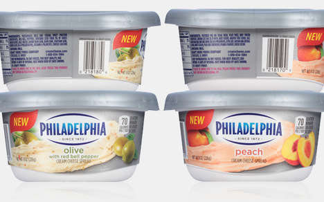 Fruit-Flavored Cheese Spreads - This Sweet Cream Cheese Comes in a Fruity Peach Flavor