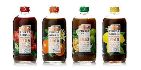 Concentrated Tea Mix Packaging - The Finest Kind Tea Mixers and Modifiers Create Delicious Drinks