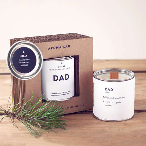 Masculine Father's Day Candles - The AROMALAB Cedar Woodwick Candle is Blended with Men in Mind