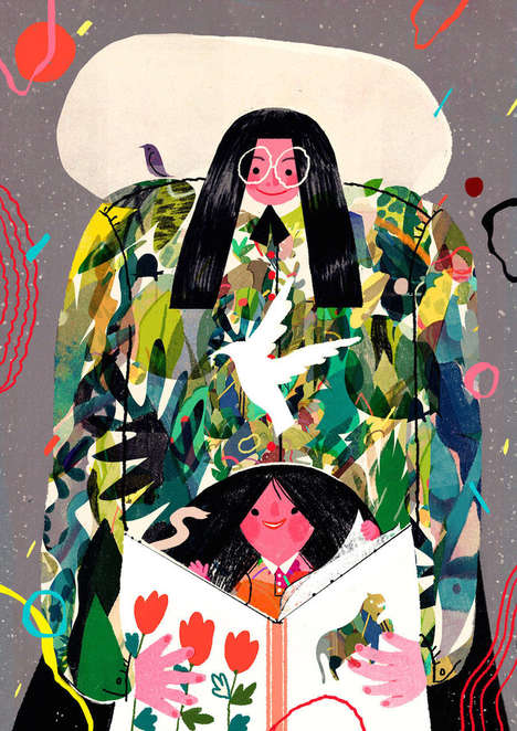 Colorfully Jubilant Illustrations - These Vivid Illustrations Envision a Rosy and Imaginative World