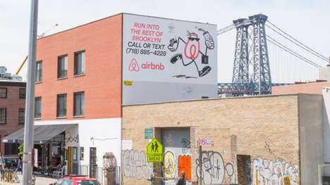 Phonecall Travel Billboards - Airbnb's City Billboards Encourage People to Call and Text