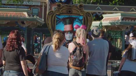 Interactive Movie Billboards - Johnny Depp Promotes the 'Through the Looking Glass' Movie Himself