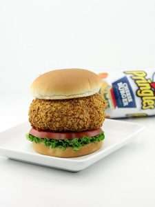 Chip-Covered Burgers - This Cheeseburger Patty is Covered in Crushed Pringles and Deep Fried