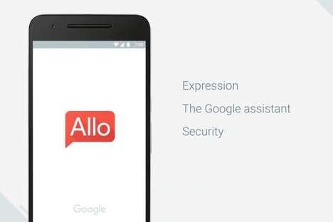 Self-Replying Messaging Apps - The Google Allo Platform Sends Predictive Text Responses