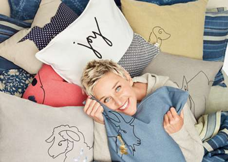 Comedian Bedding Collections - Ellen DeGeneres' Patners With Bed Bath & Beyond to Create Cozy Duvets