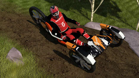 Lightweight Downhill Vehicles - The 'Scott Tomahawk' Downhill Racing Vehicle is Streamlined