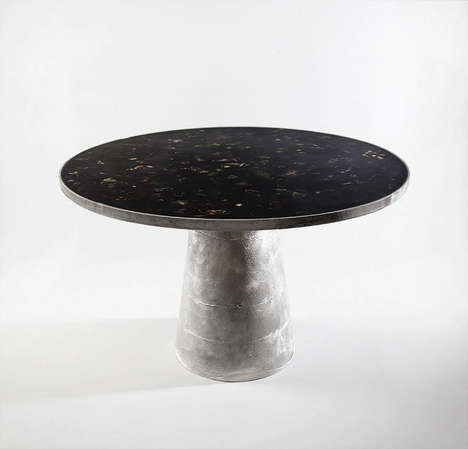 Floral Marble Furniture - This Floral Furniture Collection is Simultaneously Sturdy and Delicate