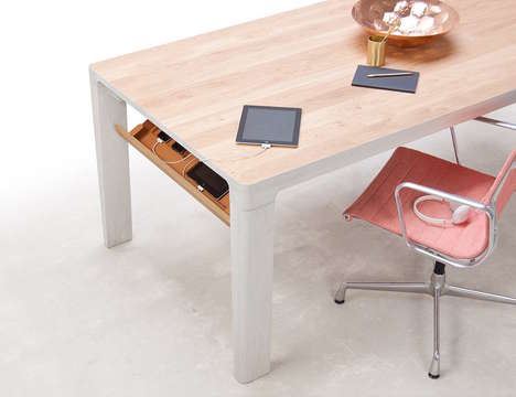 Technology-Hiding Tables - The 'SHIFT' Office Table Holds Devices and Other Technology Gear
