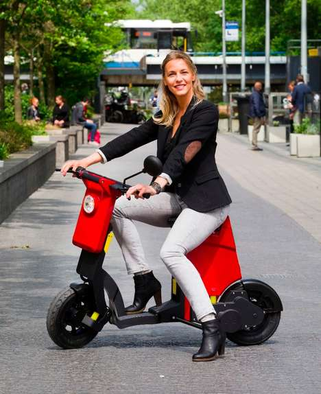 Functional Commuter Scooters - The 'GiGi' Electric Folding Scooter is Easy to Ride and Transport