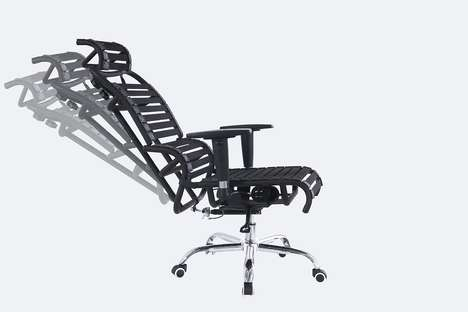 Customized Ergonomic Office Chairs - The Harmony Ergonomics 'Air Chair' Features a Stretching Design