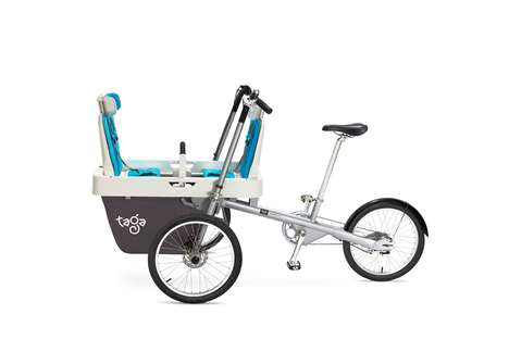 Child-Accommodating Adult Tricycles - The Taga 2.0 Bike Stroller Carries Kids or Cargo Safely