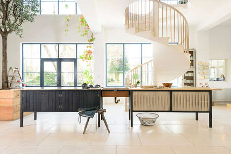 Multifunctional Kitchen Islands - The 'Tempo' Kitchen Prep Station Works as an Island or a Built-in