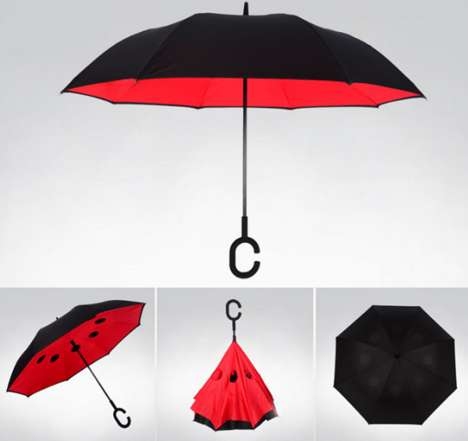 Hands-Free Umbrellas - These Inverted Umbrellas Clevery Attach to Your Wrist