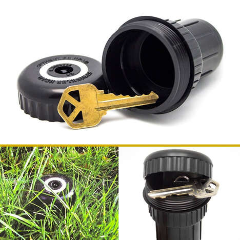 Key-Hiding Sprinklers - The Hide-a-Key Sprinkler Head Disguises Itself as an Irrigation System