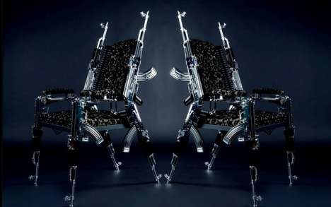 Armory Furniture Chair Designs - The AK-47 Chair by Rainer Weber is Crafted from Real Firearms