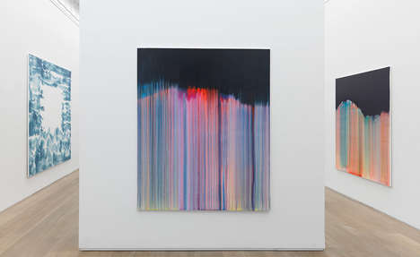 Drip Artwork Exhibits - This New York Exhibit Showcases Bernard Frize's Drip Artwork