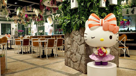 Cartoon Cat Airport Cafes - The Hello Kitty Orchid Garden is at the Changi Airport in Singapore