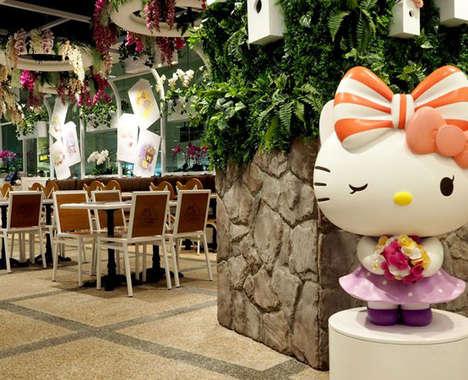 Cartoon Cat Airport Cafes