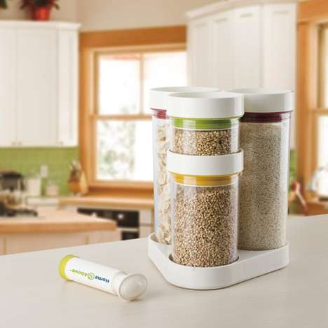 Vacuum-Sealing Pantry Containers - The Home and Above Vacuum Food Containers Keeps Dry Goods Fresh