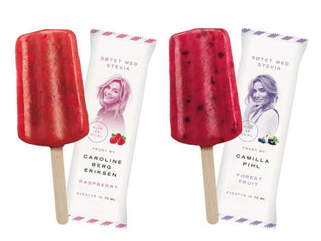 Naturally Sweetened Popsicles - The Packaging for Frost Ice Cream is Very Maximalistic and Colorful