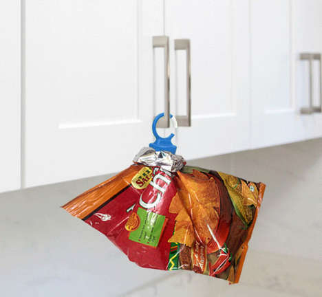 Hanging Bag Sealing Clips - The 'Cork It' Sealing Clip Preserves Food Freshness After Opening