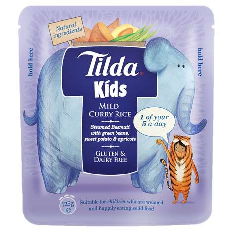 Kid-Friendly Rice Packaging - Tilda's Basmati Rice for Kids is Branded with Charming Characters